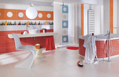 Spacious interior design for bathroom