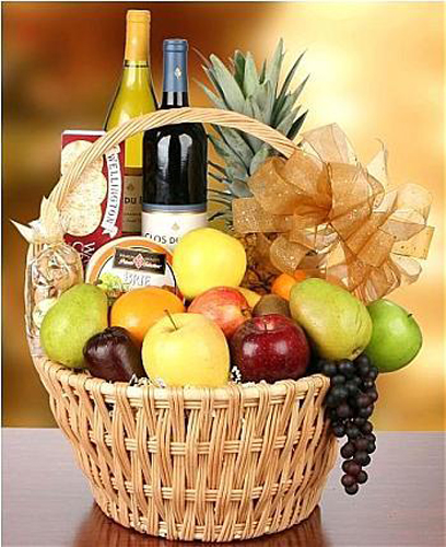 Wine Basket Centerpieces