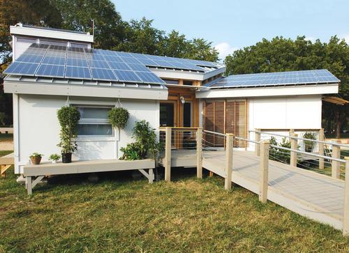 installation of solar power house
