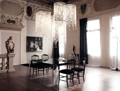 Black Dining Room Decoration