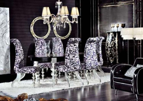 Elegant Black Dining Room Decoration
