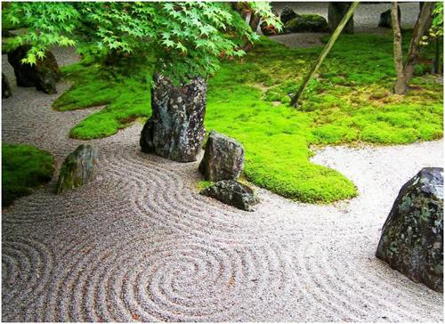 Mini Zen Garden at backyard
