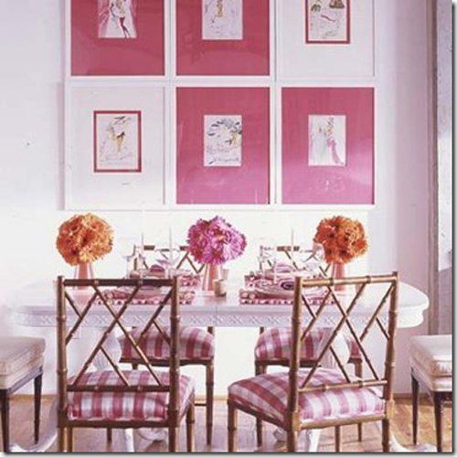 Pink Dining Room Style