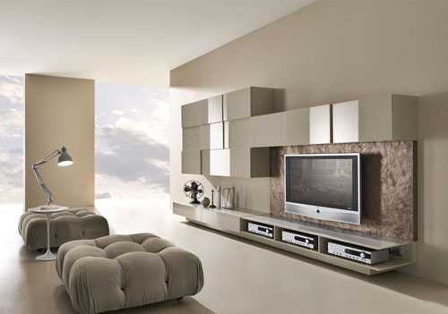 Simple Mid-Century Modern Living Room