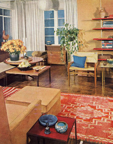 1960 Rug in living room