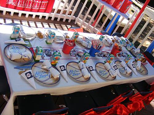 Baseball Themed Table Decoration