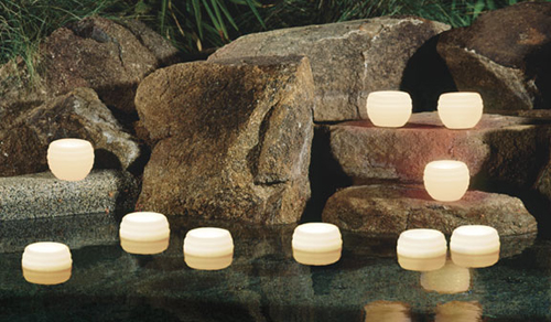 Scented Candles at Pool