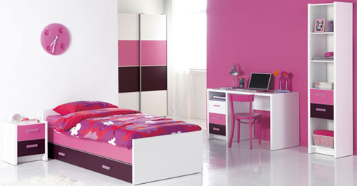 Elegant Modern Kids Bedroom Pink