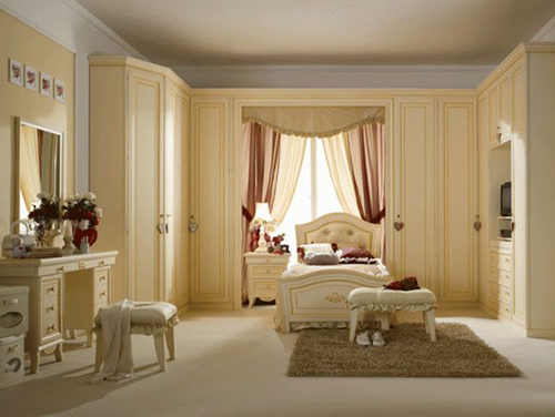 Light Brown Luxury Girl Bedroom Design