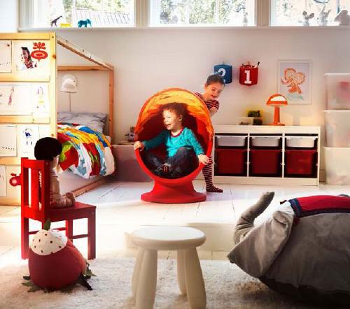 Modern Kids Bedroom with Playroom