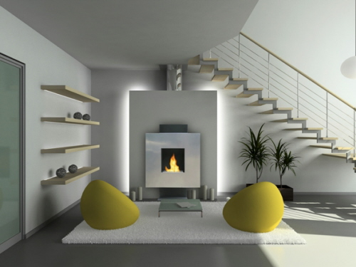 Modern Ventless Gas Fireplace Design