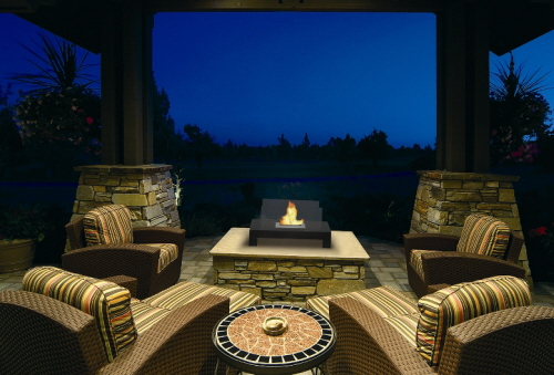 Outdoor Ventless Gas Fireplace Design