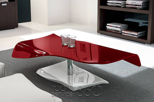 Red Modern Italian Coffee Table