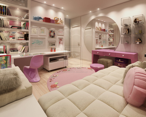 Simple Luxury Girl Bedroom Design