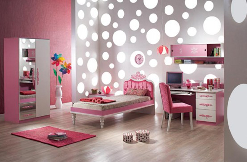 Soft Modern Kids Bedroom Pink
