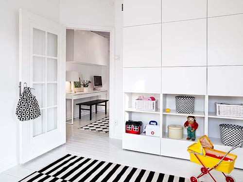 White Built In Storage Space