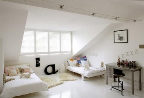 White Loft Remodeling Interior Design