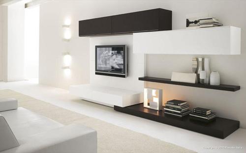 White Minimalist Wall Unit Design