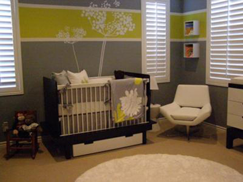 Yellow Modern Baby Room