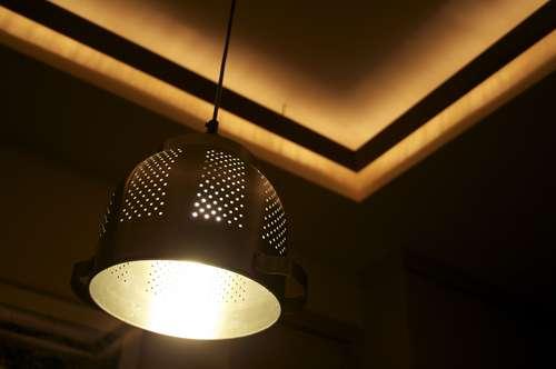 brown Hanging Shade Lamps