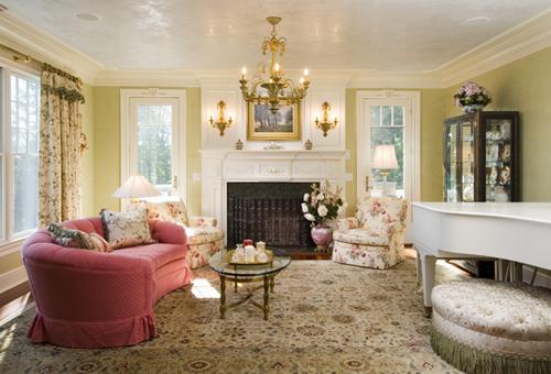 Agra Rug Design in Living Room