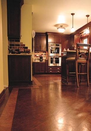 Brown Leather Flooring Design