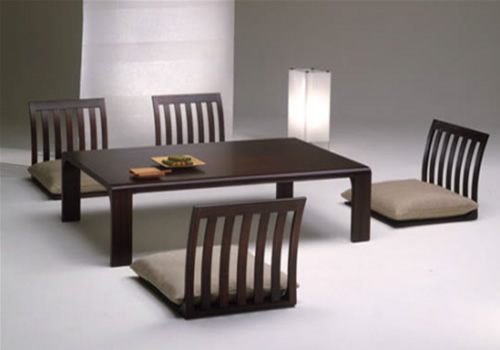 Dark Low Japanese Dining Furniture