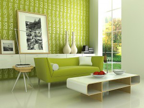 Green Inexpensive Decorating