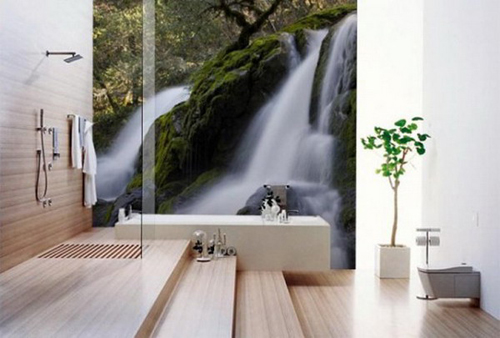 Modern Wall Mural Decoration for Bathroom