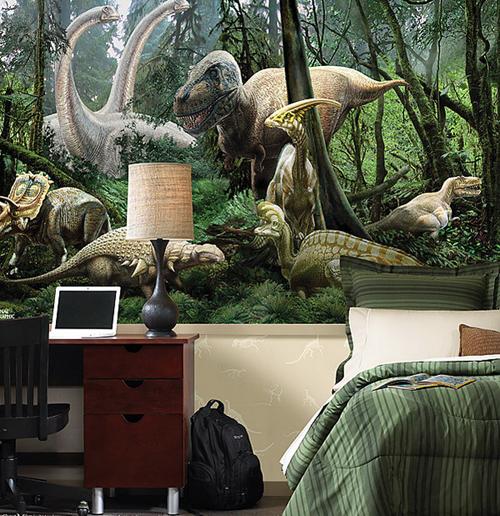 Mural of Dinosaur Bedroom Design