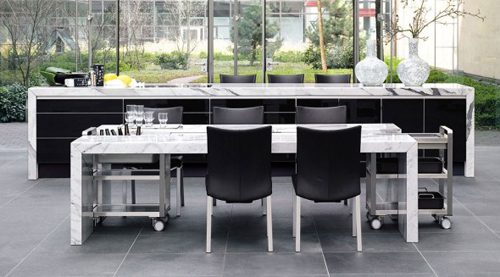 Natural Stone Dining Table Design