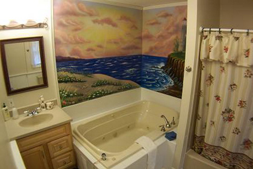 Simple Wall Mural Decoration for Bathroom