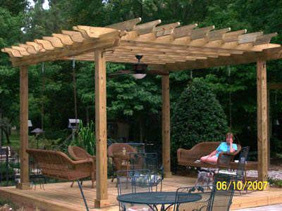 Wood Pergola Garden Design