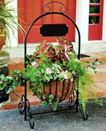 Wrought Iron Planter Ideas