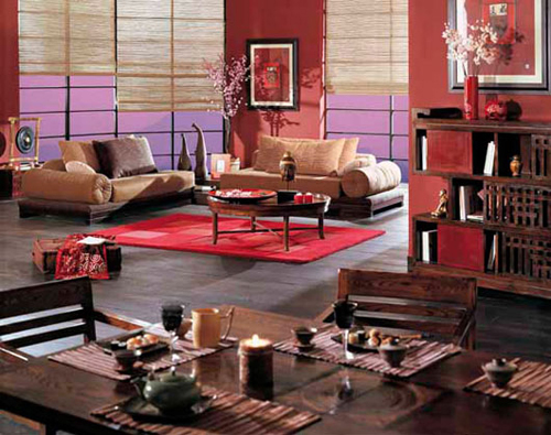 modern Chinese Red Wall
