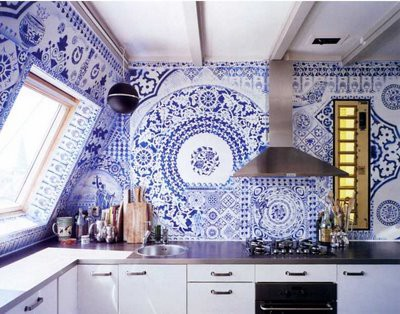 Cobalt Blue Tile Decoration