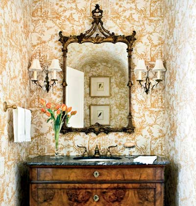 French Country Powder Room Ideas