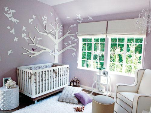 Lavender Baby Nursery Design