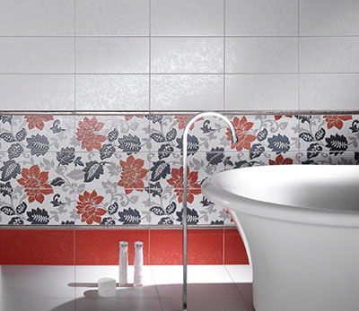 Bathroom Tile in Flower Shape