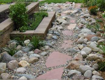 Patio Stone Sidewalk Design