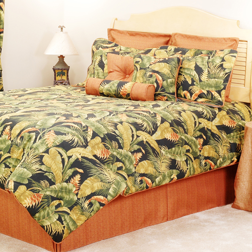 Hawaiian Theme with Nice Bedding