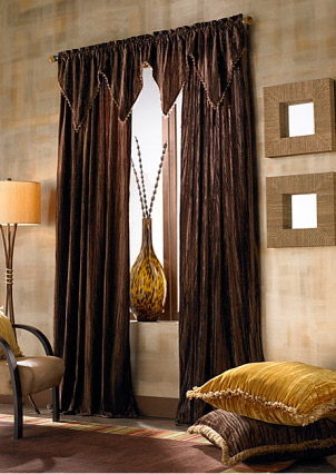 Window Treatment in Dark Color