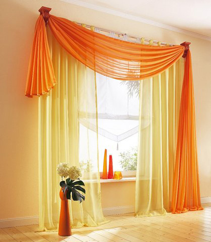 Window Treatment on Orange