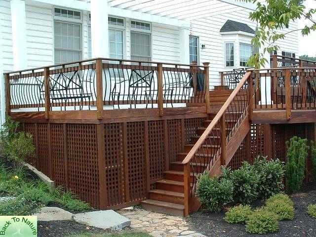 Cedar Decking with Stairs