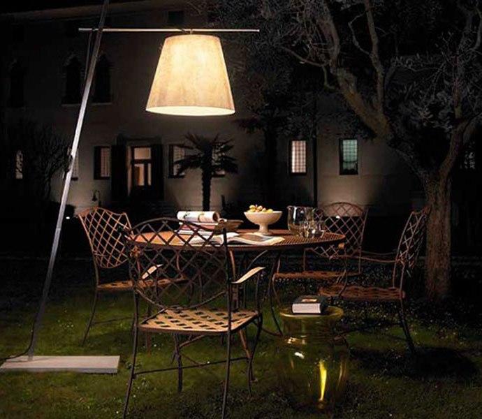 Creative Patio with Floor Lamp