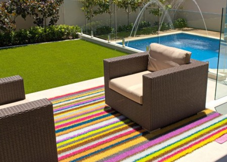 Outdoor Rug in Stripes