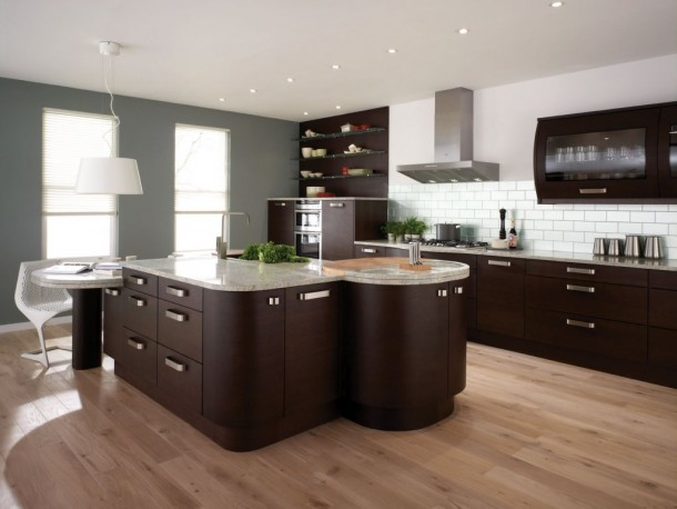 Perfect Kitchen in Brown