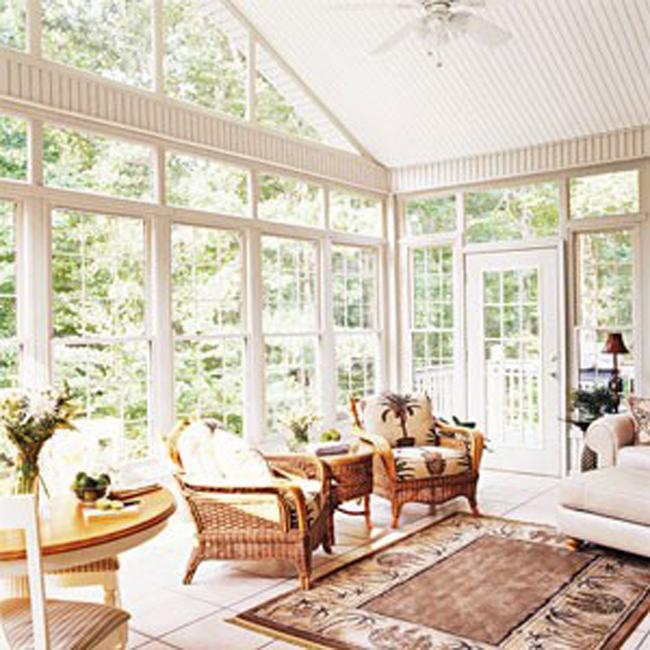 Sunroom Furniture with Area Rug