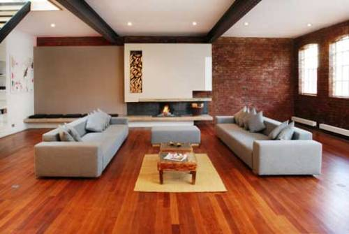 Modern Living Room Furniture Ideas with Wooden Floor