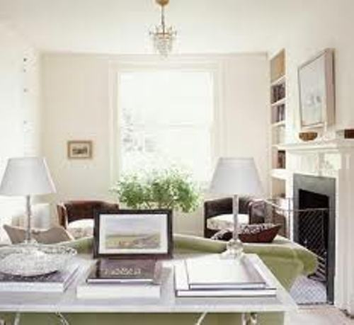 Long Living Room Decorating Ideas in White